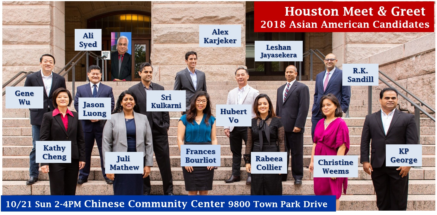 Oca Greater Houston Meet Greet With Asian American Candidates In The 2018 Election